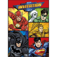 Justice League Party Invitations - 8 Pack