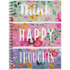 A4 Wiro Think Happy Thoughts Notebook image number 1