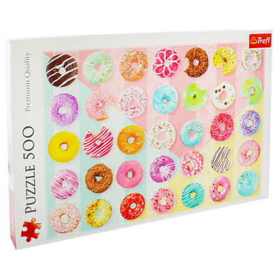 Doughnuts 500 Piece Jigsaw Puzzle image number 1