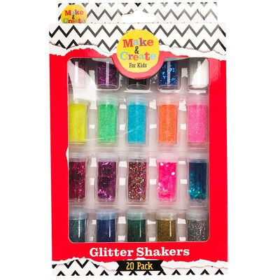 Assorted Glitter Shakers: Pack of 20 image number 1