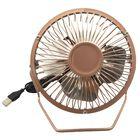 4 Inch Desk USB Fan Rose Gold image number 2