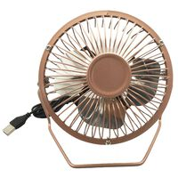 4 Inch USB Desk Fan Rose Gold