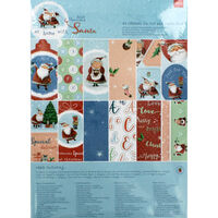 At Home with Santa A4 Ultimate Die Cut and Paper Pack
