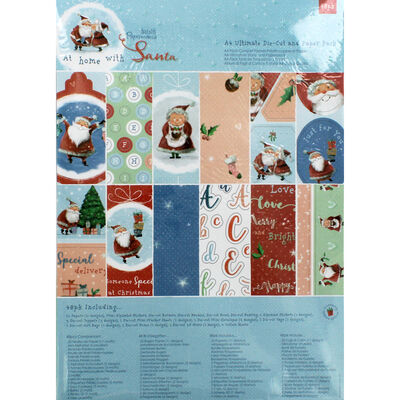 At Home with Santa A4 Ultimate Die Cut and Paper Pack image number 1
