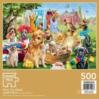 Pets On Wash 500 Piece Jigsaw Puzzle image number 3