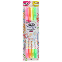 Tulip Neon Fabric Markers: Pack of 4