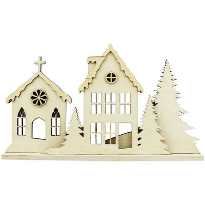 Decorate Your Own Festive Wooden Village