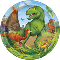 Dinosaur Small Paper Plates - 8 Pack