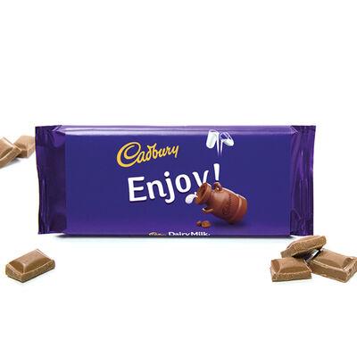 Cadbury Dairy Milk Chocolate Bar 110g - Enjoy image number 2