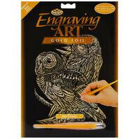 A4 Engraving Art Set: Owls
