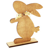 Decorative Wooden Easter Bunnies - Bundle of 12