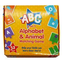 2-in-1 Alphabet Animal Matching Game