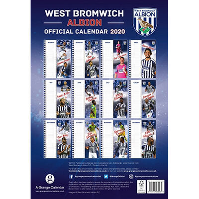 The Official West Bromwich Albion Calendar 2020 image number 3