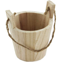 Wooden Wishing Well Bucket With Rope