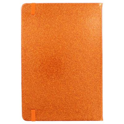 A5 Orange Glitter Cased Lined Journal image number 4