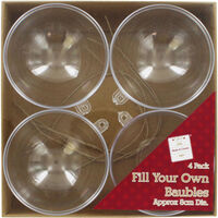 Fill Your Own Baubles - 4 Pack