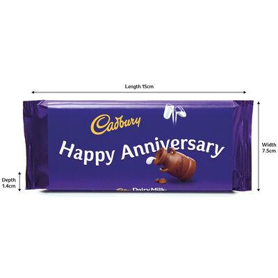 Cadbury Dairy Milk Chocolate Bar 110g - Happy Anniversary image number 3