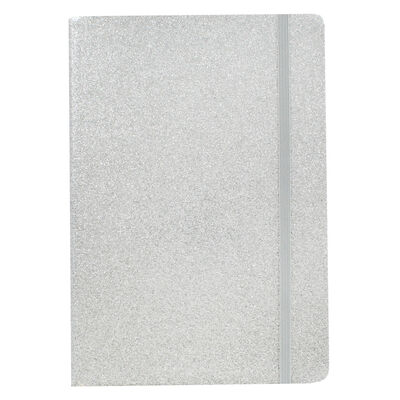 A5 Silver Glitter Cased Lined Journal image number 2