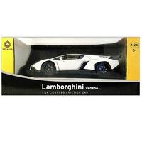 Lamborghini Veneno 1:24 Convertible Friction Car: White