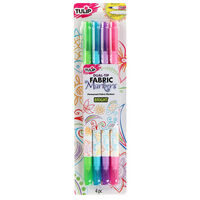 Tulip Bright Fabric Markers: Pack of 4