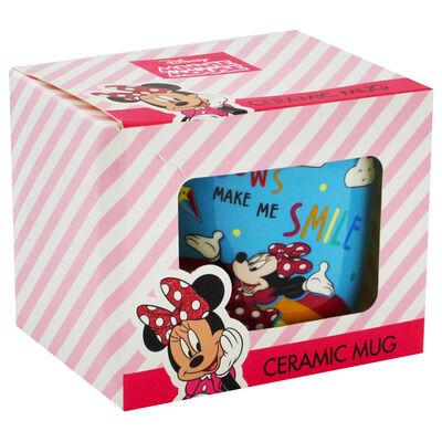 Disney Minnie Mouse Blue Rainbow Ceramic Mug image number 1