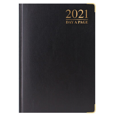 A5 Padded Day a Page 2021 Diary Assorted image number 2