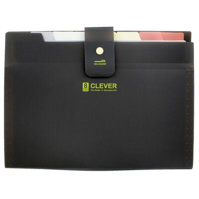 Black 8 Pocket Document Wallet image number 1