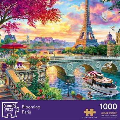 Blooming Paris & Secret Temple 1000 Piece Jigsaw Puzzle Bundle image number 3