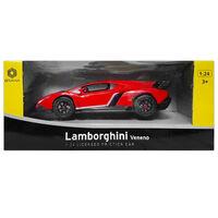 Lamborghini Veneno 1:24 Convertible Friction Car: Red