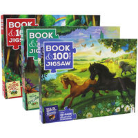 Book and 100 Piece Jigsaw Puzzles Bundle
