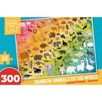 Rainbow Animals of the Word 300 Piece Jigsaw Puzzle