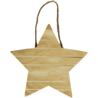Wooden Hanging Star image number 1