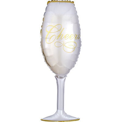 38 Inch Champagne Glass Super Shape Helium Balloon image number 1