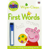 Peppa Pig: First Words Wipe-Clean Book