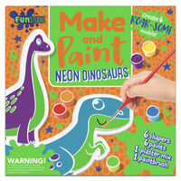 Make and Paint Neon Dinosaurs