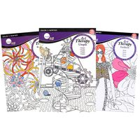 A5 Art Therapy Colouring 3 Book Bundle
