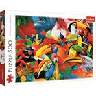 Colourful Birds 500 Piece Jigsaw Puzzle image number 1
