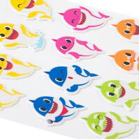 Baby Shark Puffy Stickers: Pack of 24