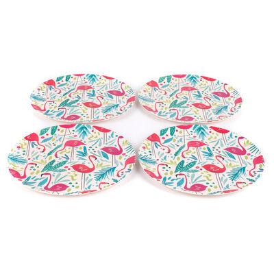 Flamingo Bamboo Eco Plates - Set of 4 image number 2