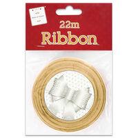 Gold Satin Ribbon 22m