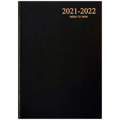 A4 Black 2021-2022 Week to View Diary image number 1