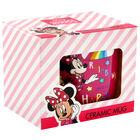 Disney Minnie Mouse Pink Rainbow Ceramic Mug image number 1