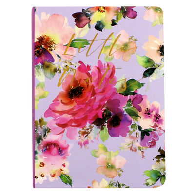 A6 Lilac Bloom Soft Cover Notebook image number 1