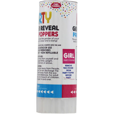 Gender Reveal Confetti Party Popper - Pink image number 1