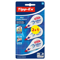 Tipp-Ex Mini Pocket Correction Mouse - Pack Of 3