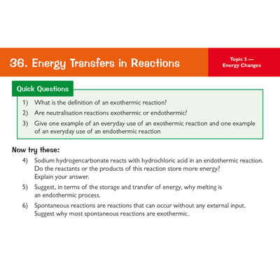 CGP GCSE Combined Science Chemistry: Revision Question Cards image number 3