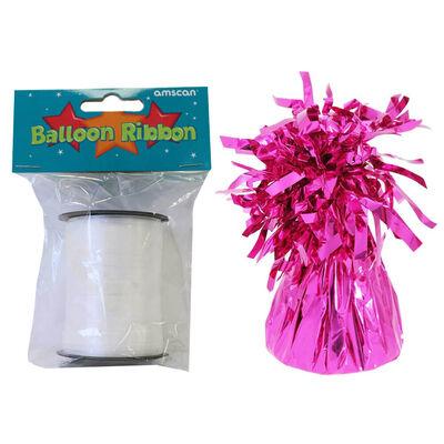 18 Inch Pink Helium Heart Balloon Bundle image number 4