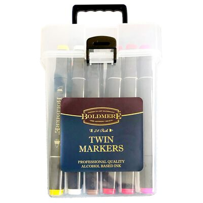 CMYK Twin Ended Brights Pastels Colour Markers - Pack of 24 image number 1