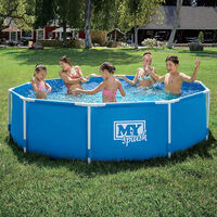 M.Y Splash Metal Frame Swimming Pool 8ft x 26in