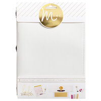 American Crafts: Heidi Swapp Minc Collection: White Canvas Journal Cover